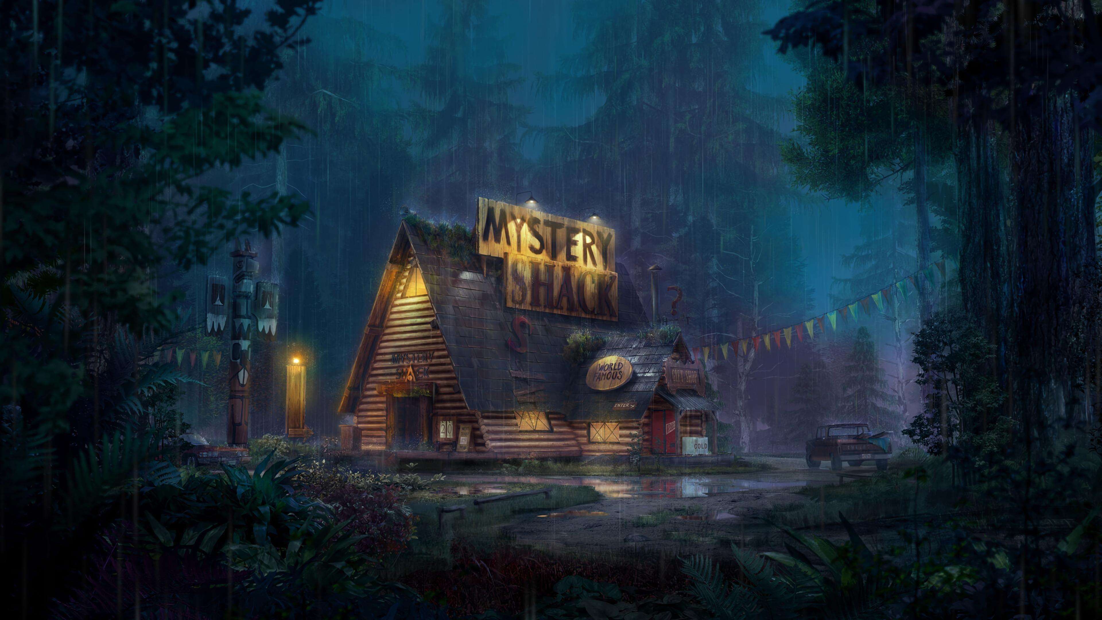 Mystery Shack Gravity Falls In 2020 Gravity Falls Art Gravity Falls Fall Wallpaper