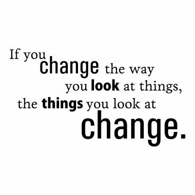 Belvedere Designs LLC Change The Way You Look At Things Wall Quotes™ Decal