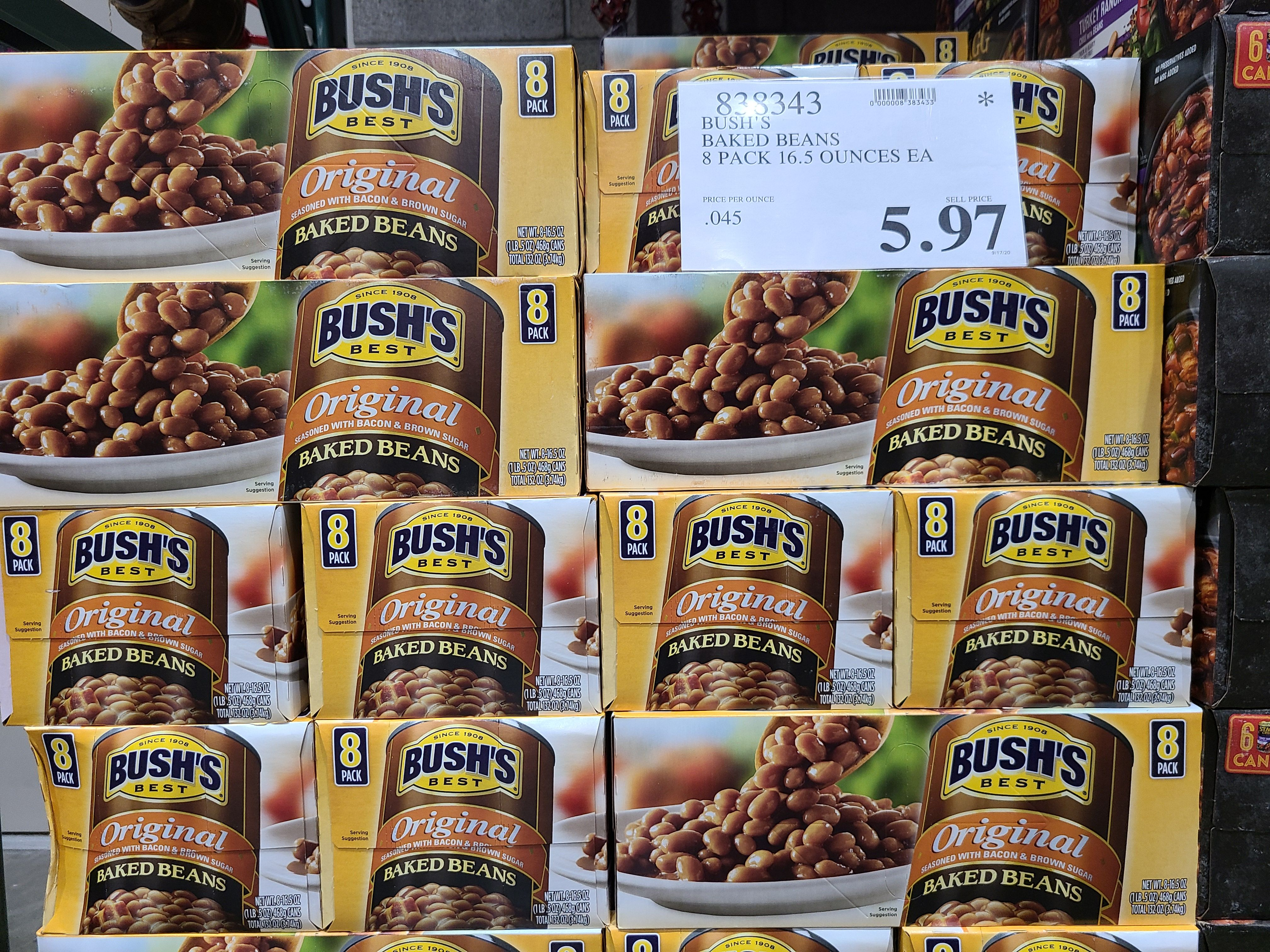 Bush S Baked Beans 8 Pack 5 97 Costco Clearance In 2020 Baked Beans Beans Baking