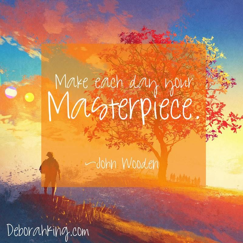Inspirational quote make each day your masterpiece