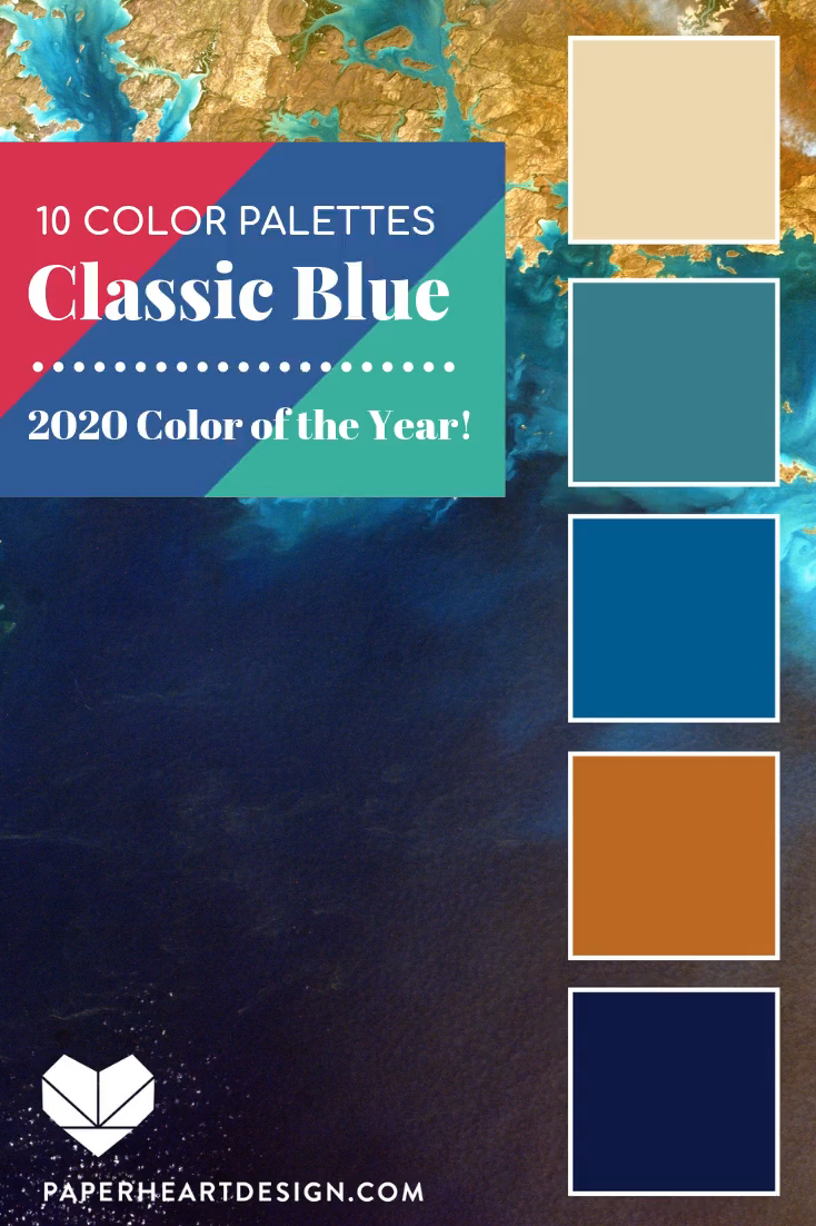 10 Stylish Classic Blue Color Palettes! Pantone Color of the Year 2020