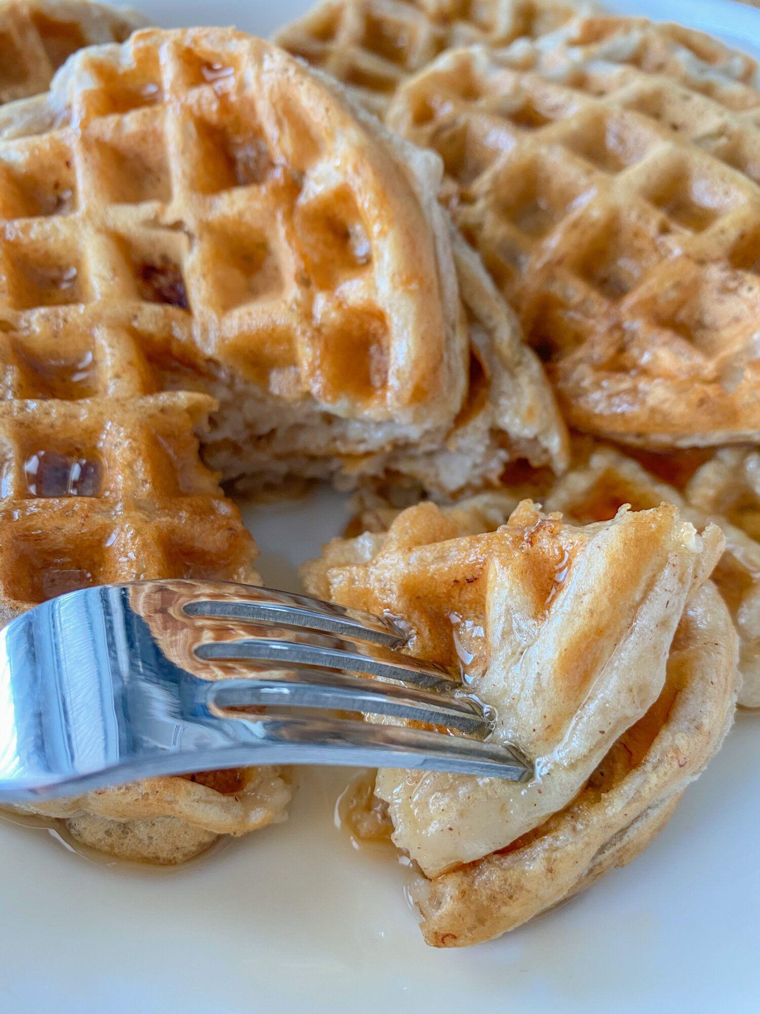 6 Ingredient Waffles Recipe In 2021 Vegan Bakery Food Waffle Ingredients