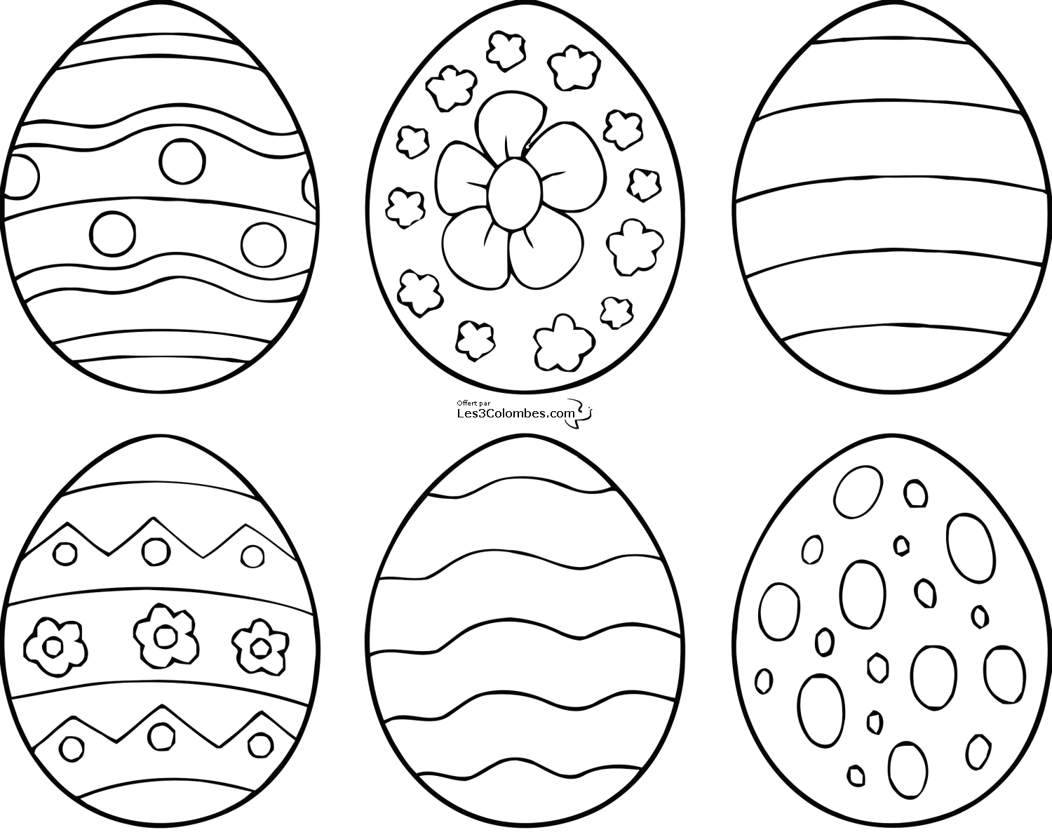 Coloriages de 6 modele d oeuf de paques a imprimer coloriage easter crafts easter colouring - Coloriage de paque ...