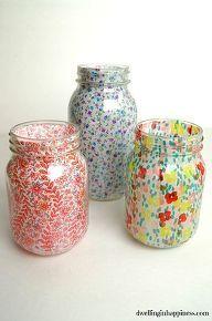 DIY Mason Jar Vases