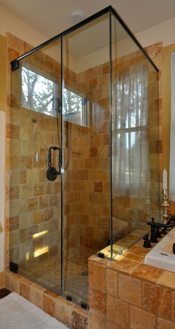 The Limestone - This heavy-glass shower enclosure features 1/2-inch ...