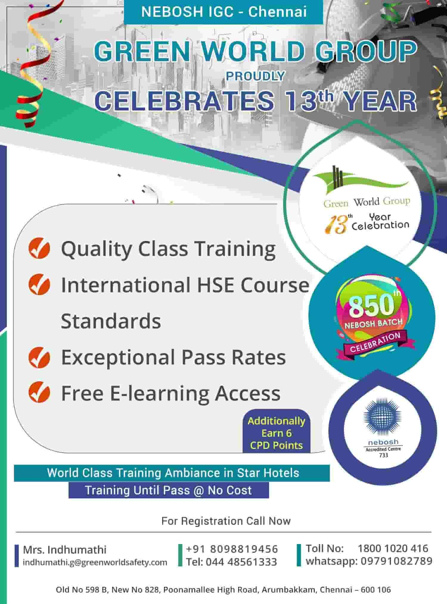 NEBOSH Course in Chennai Safety courses, Safety
