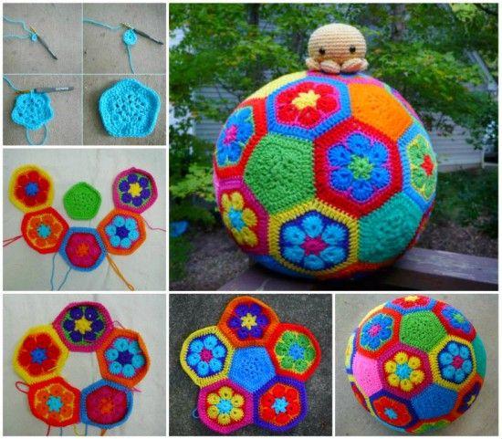 The Mediterranean Crochet: Crochet African Flower Soccer Ball Free Pattern
