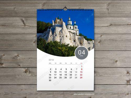 2018 Custom Calendar Template Wall Calendars Pinterest Photo