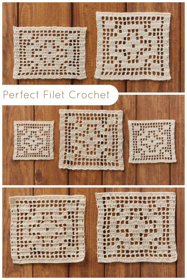 7 Tips and Tricks for Perfect Filet Crochet #filetcrochet