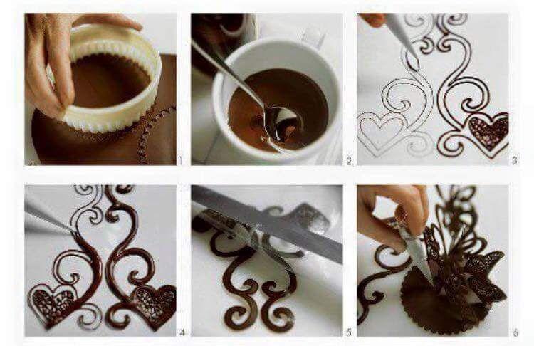 рисунки из шоколада на торт как делать тебя летний
