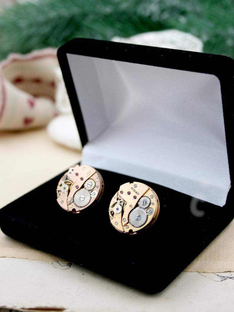 Copper Cufflinks 7th Wedding Anniversary Gift For Husband Etsy Anniversary Gifts For Husband 7th Wedding Anniversary Cufflinks