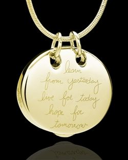 Gold Plated Ambition Pendant