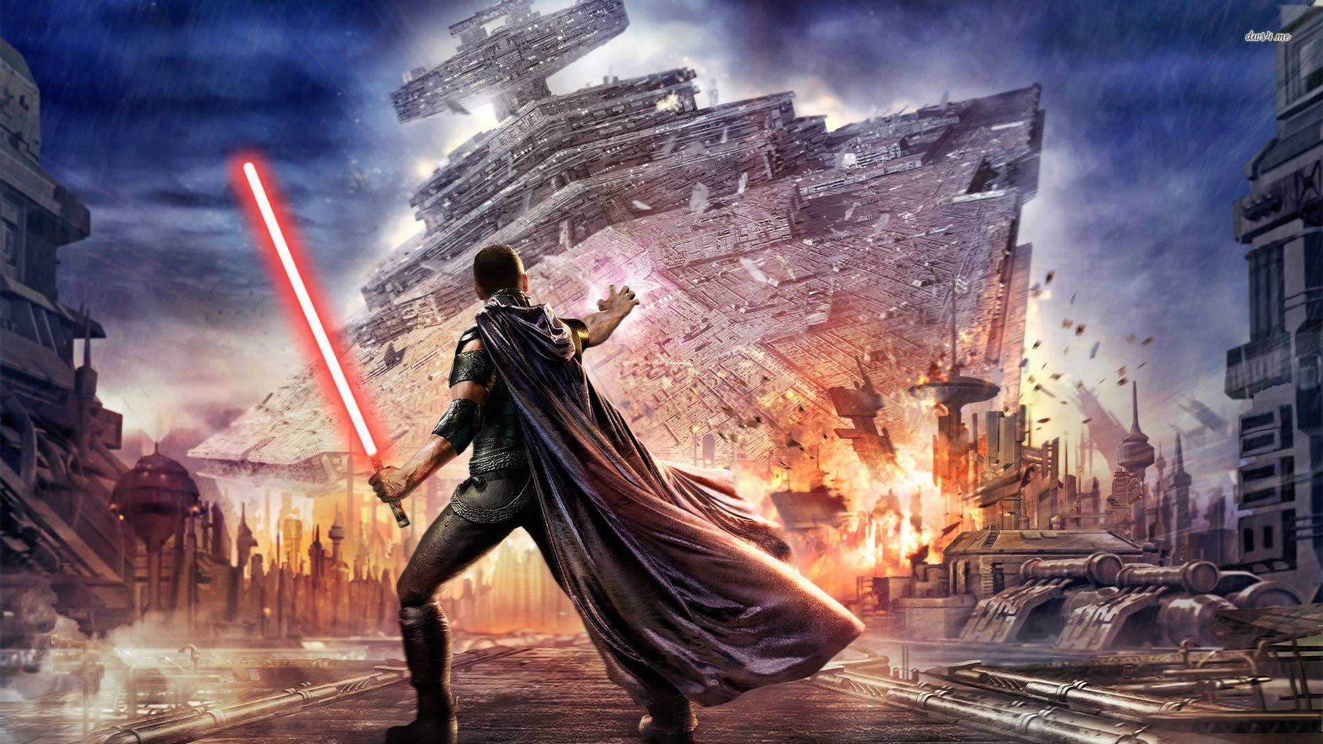 Starkiller brings down a Star Destroyer Star wars
