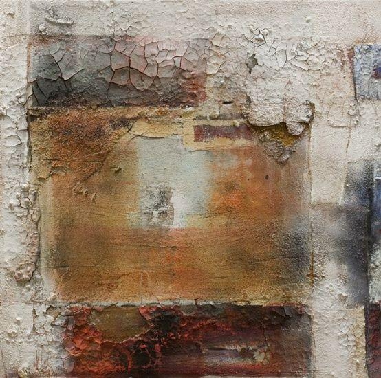 Wolfgang Walter: Korpus, ocker-rot, 2008,60 x 60 cm