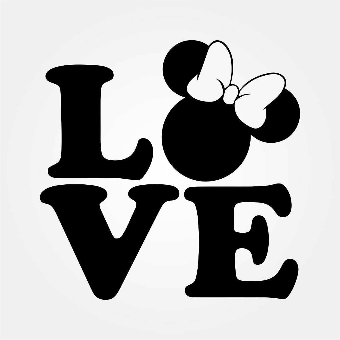 Disney SVG: Minnie Mouse Love Cut File | SVGbomb.com