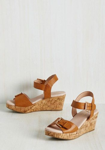 Buckle Up for the Stride Wedge | Mod Retro Vintage Heels | ModCloth.com