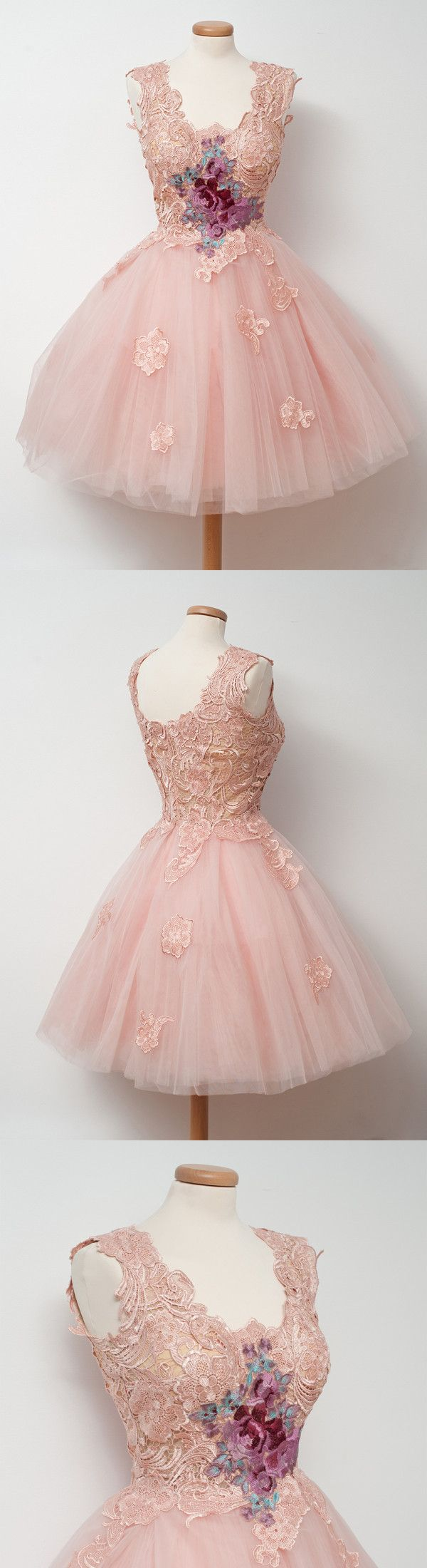 Chic pink homecoming dress party cheap ball gown homecoming dress
