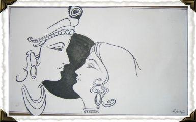 Radha Krishna Pencil Sketch Images Krishna Drawing Sketches
