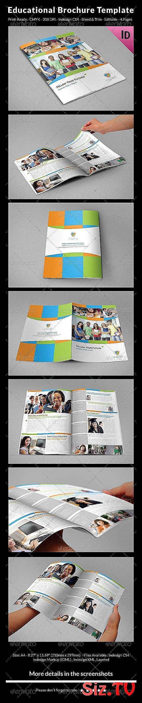 Educational Brochure Template    Informational Brochures Educational Brochure Te…
