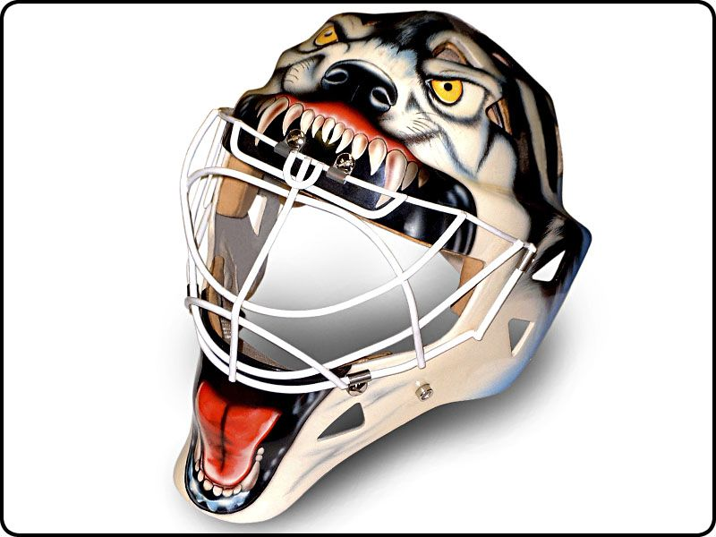 Wolf Themed Goalie Mask For A Crazy Seriously Friend