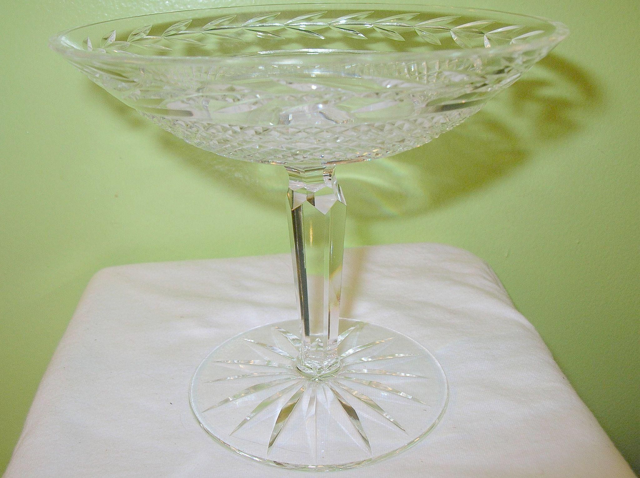 Vintage Waterford Crystal Footed Compote Glandore Pattern | Compote ...