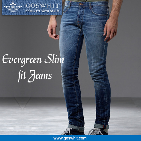 Look smart and #Fashionable by wearing this #SlimFit jeans for men by #Goswhit. Shop now :- http://goo.gl/rP20CT