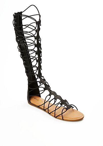 a7e1b07e1cb0 Knee-High Gladiator Sandal by Bamboo