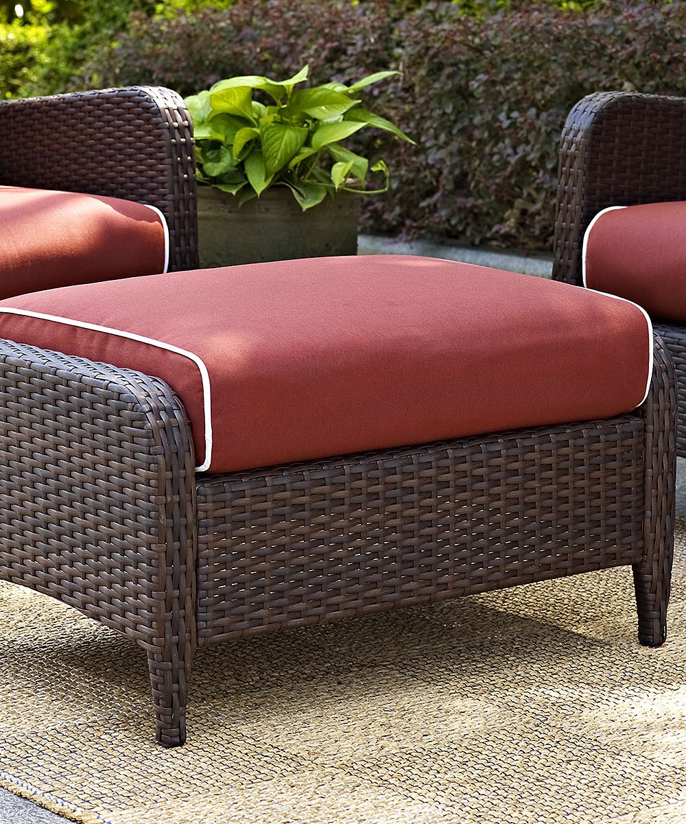 Sangria kiawah outdoor wicker ottoman wicker ottoman and products