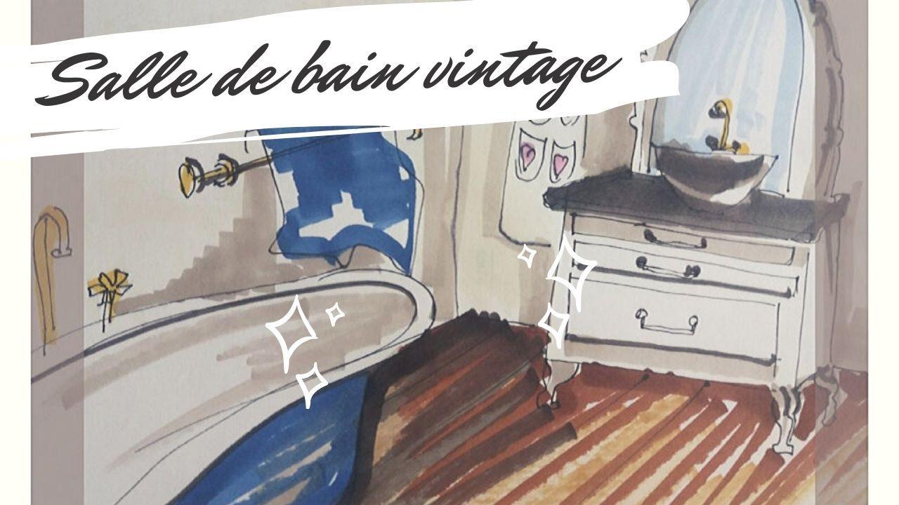 Salle De Bain Sans Carrelage En 2020 Amenagement Salle De Bain Salles De Bains Vintage Comment Amenager Une Salle De Bain