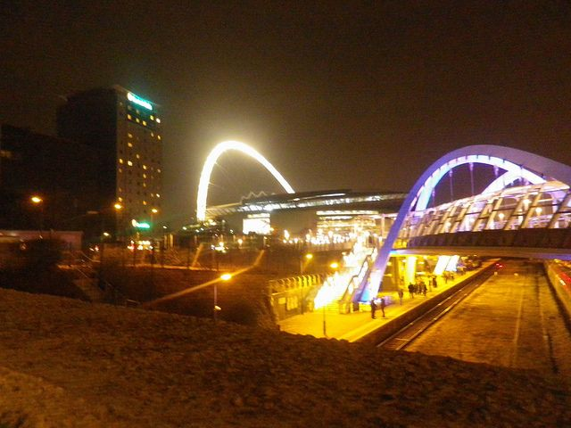 Wembley Stadium Illuminated.