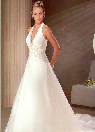 707 Size 8 Top Wedding Dresses Halter Top Wedding Dress Halter Wedding Dress