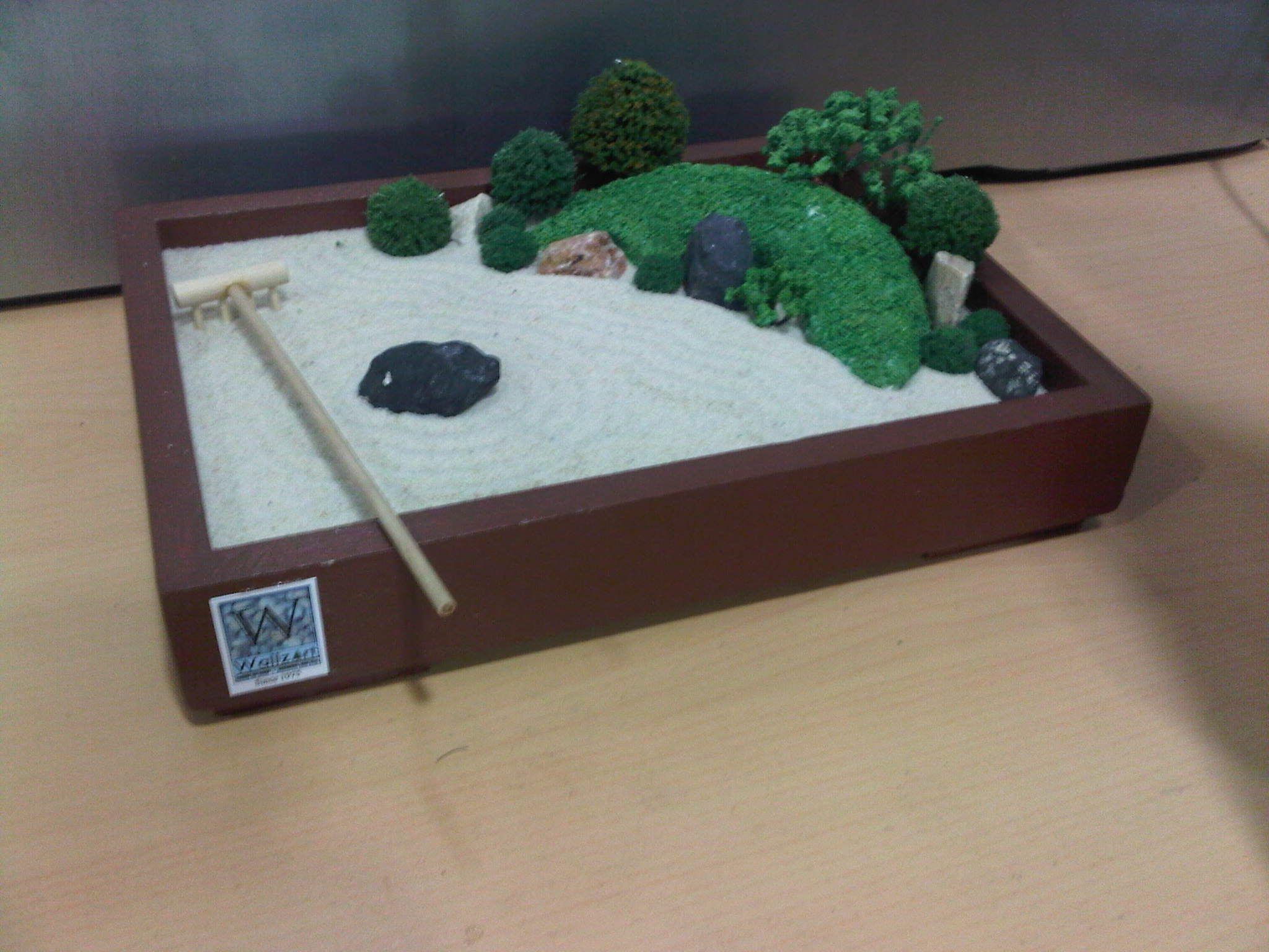 Miniature Sandbox By Wallzart Miniature Zen Garden Zen Garden Miniatures