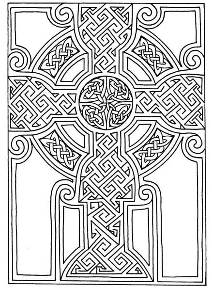 free celtic symbols coloring pages | Celtic art | Free Printable Celtic Cross Patterns ...