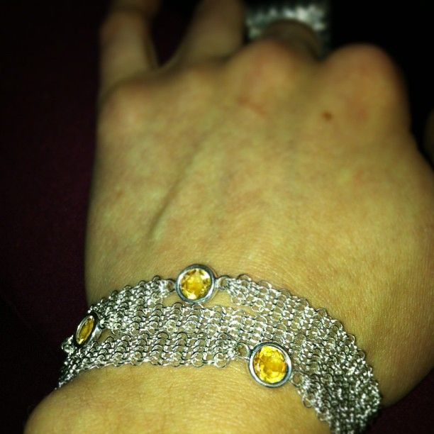 Whiting & Davis wrap bracelet with citrine