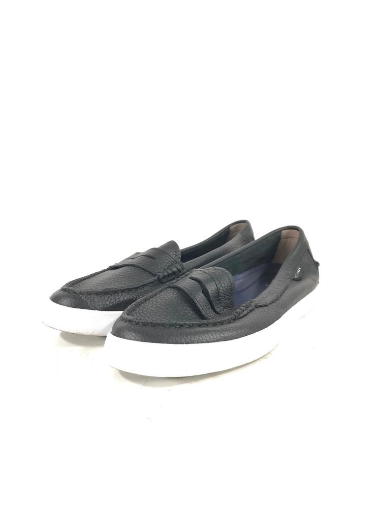 8d4be546011 90C Cole Haan Nantucket Loafer II Women s Black Leather Sz 6.5B  fashion   clothing  shoes  accessories  womensshoes  flats (ebay link)
