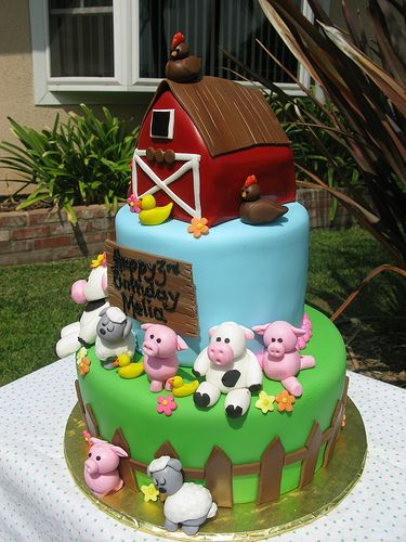 Prime Farm Theme Birthday Cake Farm Animal Cakes Zoo Birthday Cake Funny Birthday Cards Online Sheoxdamsfinfo