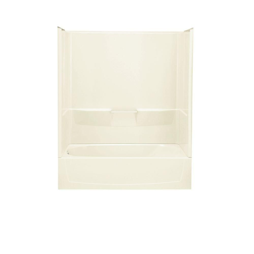 STERLING Performa 29 in. x 60 in. x 75-3/4 in. Standard Fit Bath and Shower Kit in Biscuit
