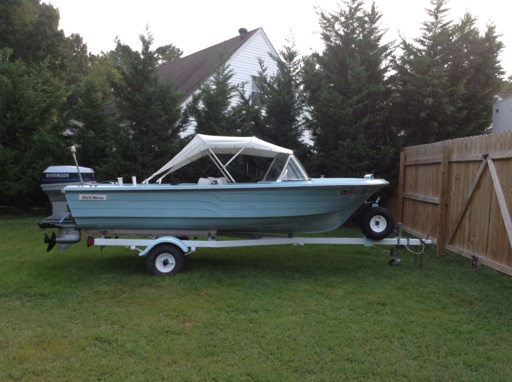 1968 Ward S Sea King 14 Runabout Classic Boats Vintage Boats Speed Boats