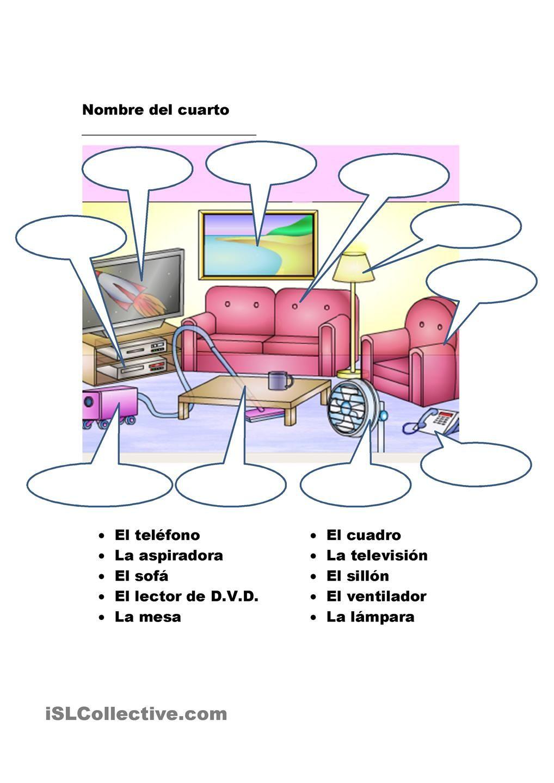 La casa | vocabulario | Spanish worksheets, Spanish vocabulary et ...