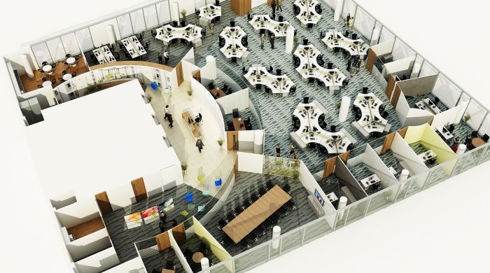 Office space planning office space design planning for Design an office space layout online