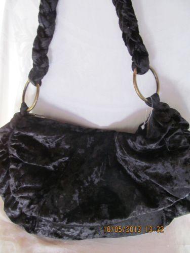 Nwt CAPELLI black velour shoulder purse LOT OF 9! WHOLESALE $270 retail