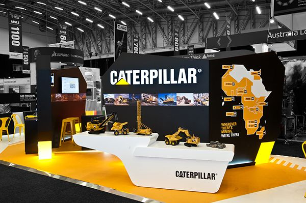 Custom Exhibition Stand Examples : Custom fabricated for caterpillar at mining indaba