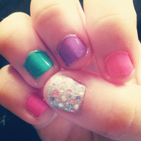 Cute For My Little Girls Nails Pinterest Girls Girls Nails