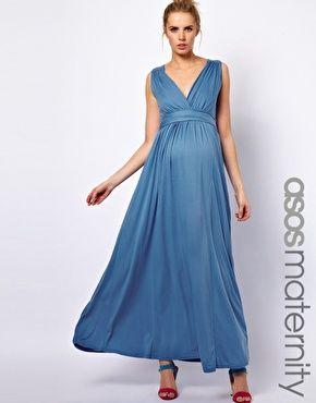 51879edb971 ASOS Maternity Exclusive Jersey Maxi Dress In Grecian Drape