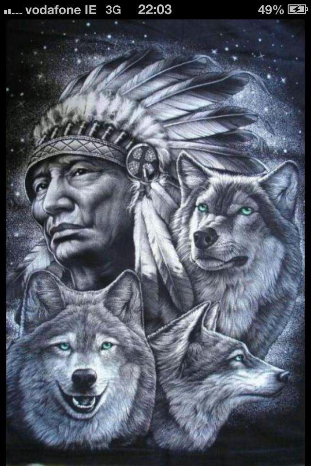 Pin De Gary Corey Em 1 Tatuagem India Com Lobo Arte Americana Arte Nativa