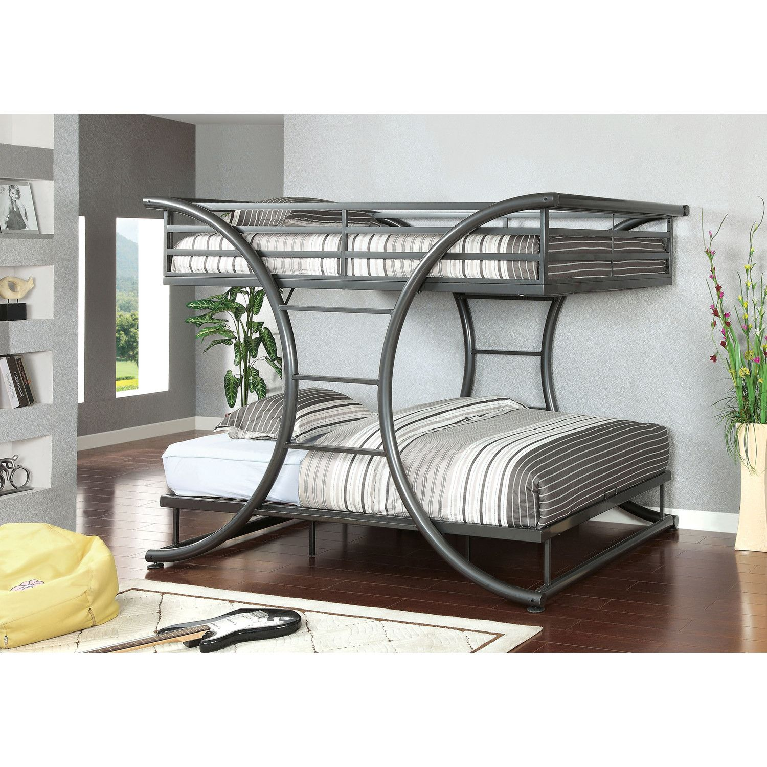 Queen loft bed ideas  Hokku Designs Cervia Full Over Full Bunk Bed  ciekawe pomysły