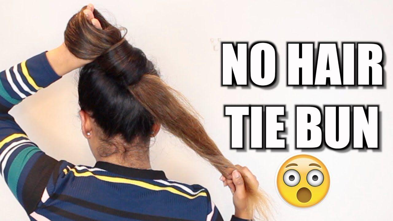 3 No Hair Tie Buns For Long Hair Hair Bun Tutorial Youtube Bun Hairstyles For Long Hair Hair Bun Tutorial Bun Hairstyles