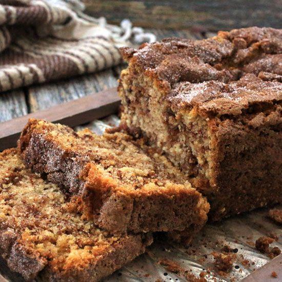 Quick Moist Cinnamon Crumb Bread Recipe Video   Dessert ...