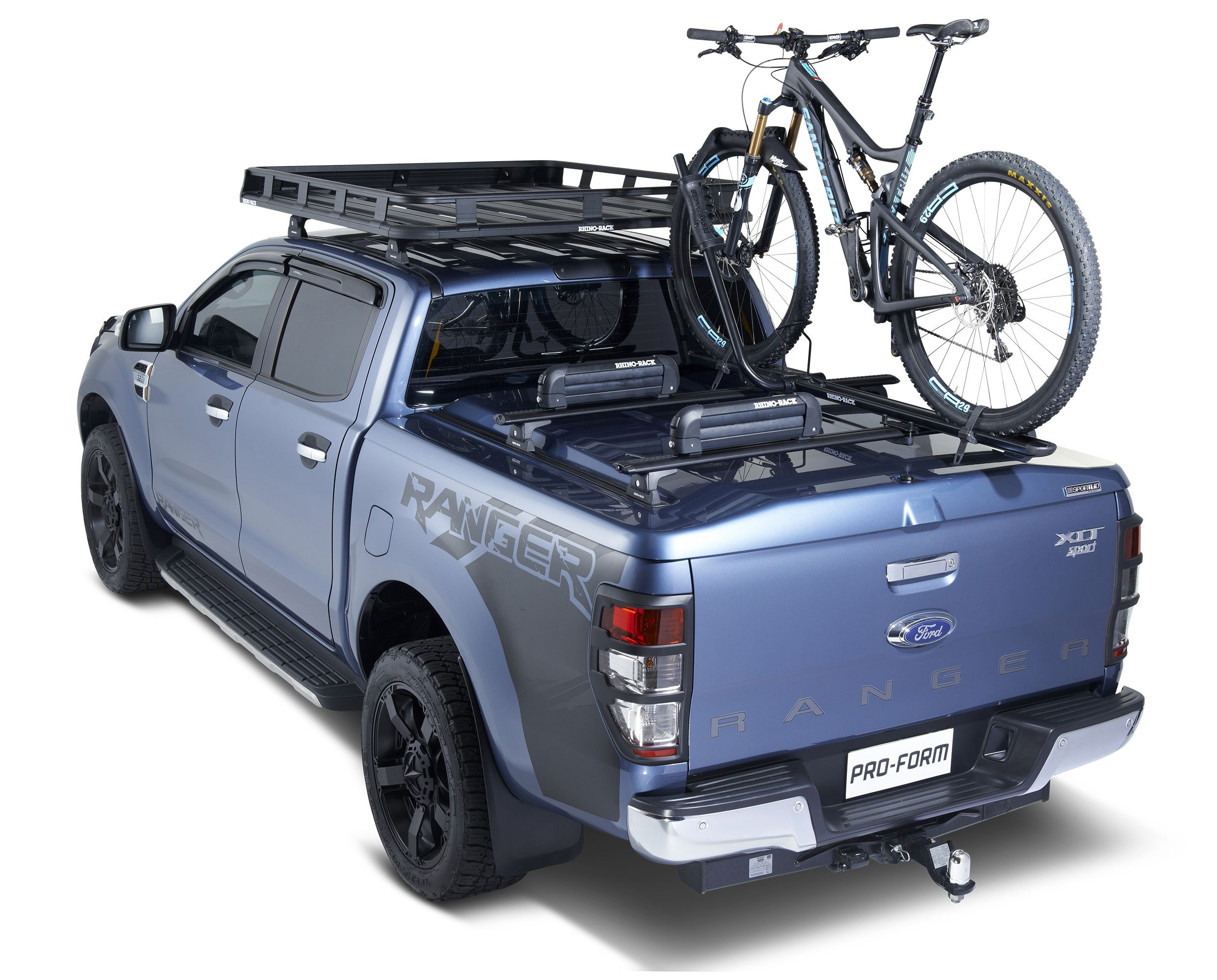 Ford Ranger Ready For Anything With Roof Racks And Tonneau Cover