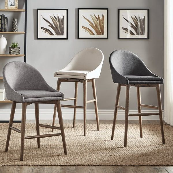 mid century modern stools. Natoma Walnut Mid-Century Modern Swivel Wood Stool (Set Of 2) INSPIRE Q   Kitchen Design Pinterest Stool, And Mid- Century Mid Stools